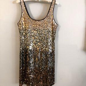 Gold ombré party dress